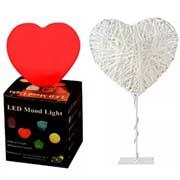 lampada a forma di cuore