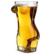 Boccale da birra a forma di corpo femminile