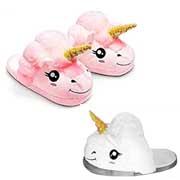 Pantofole di Peluche Unicorno