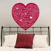 adesivo romantico con cuore regalo san valentino per lui