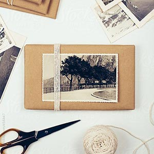 pacco regalo con fotografia