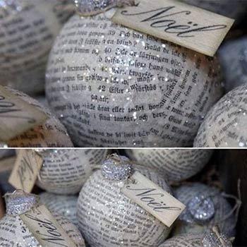 palline con vecchi giornali