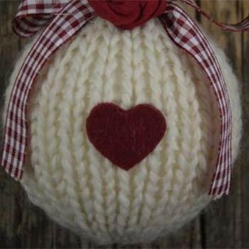 palline per albero in lana